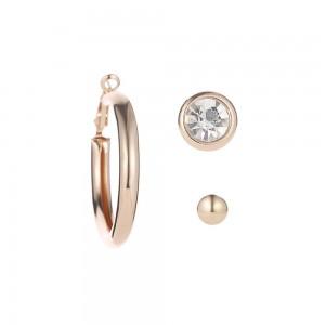Gold Hoop Earrings Three-Piece Set - 100/Lot