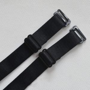 """Women's Black Shoulder Bra Straps in 32 cm x 1.8 cm (12.5"""" x 0.5"""")  (100 Bra Straps/Lot)"""