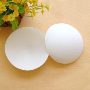 White Circular Foam Breast Enhancerment Bra Pad Inserts Add Cups (100 of Bra Inserts/Lot)