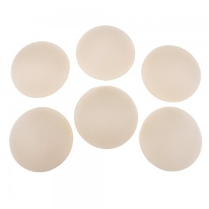Beige Circular Foam Breast Enhancerment Bra Pad Inserts Add Cups (100 of Bra Inserts/Lot)