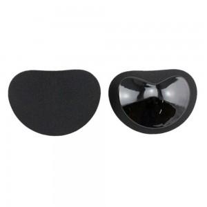 Women's Black Oval-shaped Push Up Bra Gel Insert Enhance Cleavage Cup (100 Bra Insert/Lot)