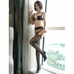 Women's Black Suspender Lace Top Thigh-High Stockings (100 Stocking/Lot)