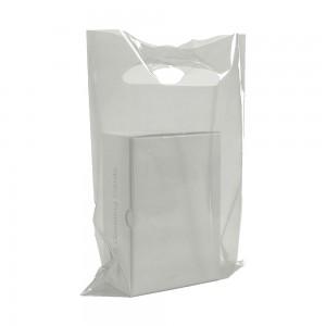 "Glossy White Reusable Flat Die Cut Handle Bags 15 cm x 20 cm (5.75"" x 7.75"") (1900 Bags/Lot)"