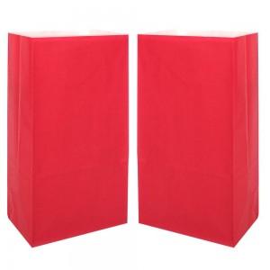 """Matte Red Kraft Paper Merchandise (Lunch/Favor) Bags 13 cm x 8 cm x 24 cm (5"""" x 3"""" x 9.25"""") (900 Bags/Lot)"""