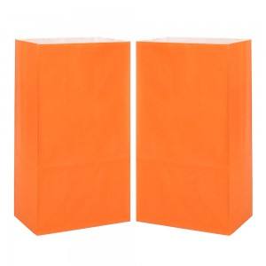 "Matte Orange Kraft Paper Merchandise (Lunch/Favor) Bags 15.5 cm x 10 cm x 30 cm (6"" x 3.75"" x 11.75"") (600 Bags/Lot)"