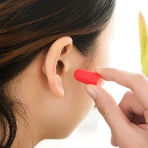"Red 0.75"" x 0.25"" Reusable Ear Plugs [800 Pairs/Lot]"