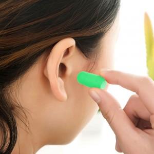 "Green 0.75"" x 0.25"" Reusable Ear Plugs [800 Pairs/Lot]"
