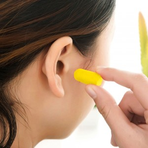 "Yellow 0.75"" x 0.25"" Reusable Ear Plugs [800 Pairs/Lot]"