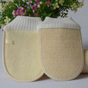 Beige Loofah Sponge Glove [100PCS/Lot]