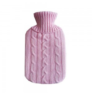 Pink Hot Water Bottle with Soft Cover Pouch [80 PCS/Lot]