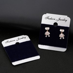 Black and White Fashion Jewelry Earring Display Card (1.75 inches x 1.5 inches) [1200 Cards/Lot]