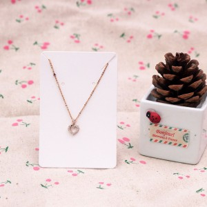 Simple White Necklace Display Card (2.25 inches x 3.5 inches) [1470 Cards/Lot]