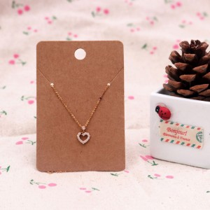 Brown Hanging Display Cards for Necklaces (2.25 inches x 3.5 inches) [1470 Cards/Lot]