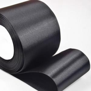 """Smooth Black Polyester Ribbon for DIY Bows (2"""" x 25 Yards) [60 Rolls/Lot]"""