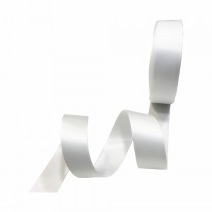 """Smooth White Polyester Ribbon for Flower Wrapping Florist Size #3 (5/8"""" x 25 Yards) [200 Rolls/Lot]"""