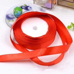 """Smooth Red Polyester Ribbon for Flower Wrapping Florist Size #3 (5/8"""" x 25 Yards) [200 Rolls/Lot]"""