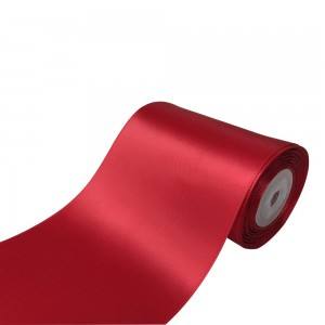 """Smooth Red Polyester Ribbon for Flower Wrapping Florist Size #100 (4"""" x 25 Yards) [15 Rolls/Lot]"""