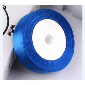 """Smooth Blue Polyester Ribbon for Party Favor Packaging (1"""" x 25 Yards) [100 Rolls/Lot]"""