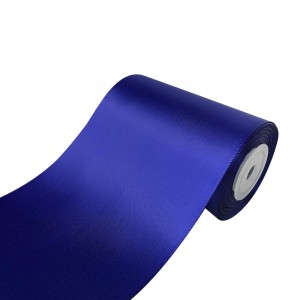 """Smooth Blue Polyester Ribbon for Flower Wrapping Florist Size #100 (4"""" x 25 Yards) [15 Rolls/Lot]"""