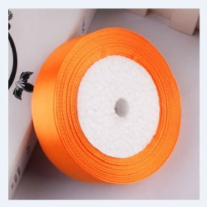 """Smooth Orange Polyester Ribbon for Party Favor Packaging (1"""" x 25 Yards) [100 Rolls/Lot]"""