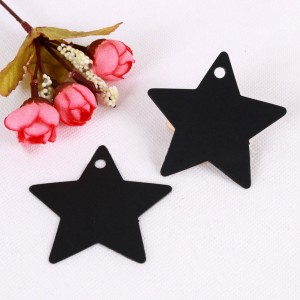 Black Star Design Tags for Party Favor Packaging (2.25 inches x 2.25 inches) [1560 Tags/Lot]
