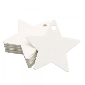 White Star Design Tags for Cookie Boxes (2.25 inches x 2.25 inches) [1560 Tags/Lot]