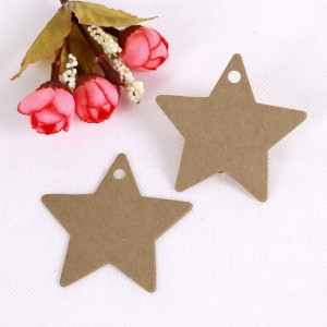 Brown Kraft Star Tags for Galaxy Themed Birthday Party Favors (2.25 inches x 2.25 inches) [1560 Tags/Lot]