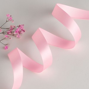 """Smooth Pink Polyester Ribbon for Flower Wrapping Florist Size #3 (5/8"""" x 25 Yards) [200 Rolls/Lot]"""