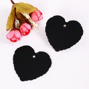 Black Heart Design Tags for Party Favor Packaging (2 inches x 2 inches) [1560 Tags/Lot]