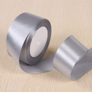 """Smooth Gray Polyester Ribbon for Party Favor Packaging (1"""" x 25 Yards) [100 Rolls/Lot]"""