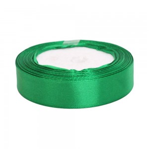 """Smooth Green Polyester Ribbon for Party Decorations (3/4"""" x 25 Yards) [100 Rolls/Lot]"""