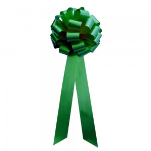 """Smooth Green Polyester Ribbon for Flower Wrapping Florist Size #100 (4"""" x 25 Yards) [15 Rolls/Lot]"""