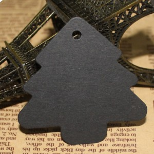 Black Tree Design Tags for Gift Packaging (2 inches x 2 inches) [1560 Tags/Lot]