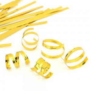 "Metallic Gold Twist Ties for Gift Bags (3.75"" Long) [200 Packs/Lot]"