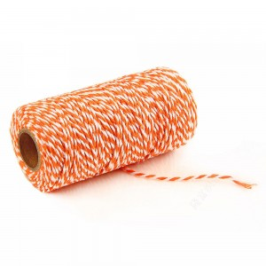 Orange and White Twist String for Cookie Boxes (110 Yards per Roll) [100 Rolls/Lot]