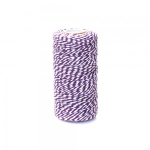 Purple and White Twist String for DIY Arts and Crafts (110 Yards per Roll) [100 Rolls/Lot]