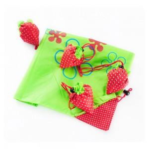 Green Color Material Reusable Foldable Shopping Tote Size 38 cm x 58 cm (14.75 Inches x 22.75 Inches) (200 Bags/Lot)