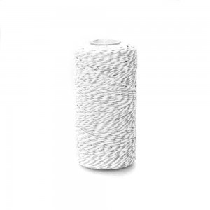 Gray and White Twist String for DIY Craft Projects (110 Yards per Roll) [100 Rolls/Lot]