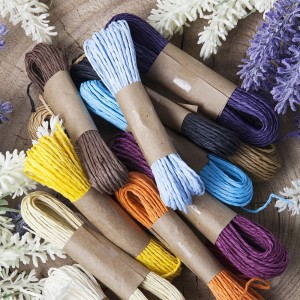 Mixed Color Raffia String for Arts and Crafts Projects (11 Yards Per Roll) [300 Rolls/Lot]