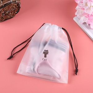 Translucent Draw Cord String Shopping Bags 16 cm x 20 cm (6.25 Inches x 7.75 Inches) (700 Bags/Lot)