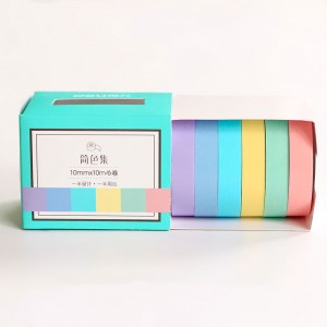 Pastel Solid Color Washi Tape for Calendar Decorations (0.25 inches x 11 Yards) [420 Rolls/Lot]