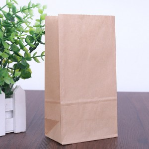 Paper Brown Lunch Bags 19 cm x 25 cm + 13.5 cm (7.5 inches x 9.75 inches + 5.25 inches) (500 Bags/Lot)