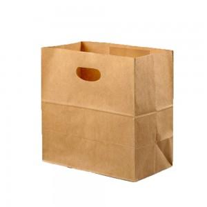 Brown Die Cut Merchandise Shopping Bags 28 cm x 28 cm + 15 cm (11 inches x 11 inches +5.75 inches) (700 Bags/Lot)