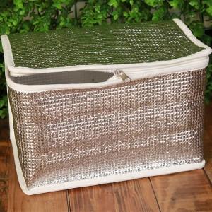 "Silver Insulated Reusable Trunk Organizer 32 cm x 16 cm x30 cm (12.5"" x 6.25"" x 11.75"") (100 Cooler Bags/Lot)"