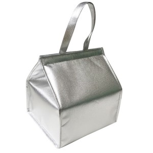 """Silver Waterproof Foldable Insulated Bags 28 cm x 26 cm x 33 cm (11"""" x 10"""" x 12.75"""") (30 Cooler Bags/Lot)"""