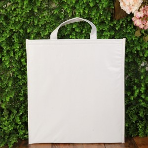 """White Flat Insulated Reusable Grocery Tote Bags 35 cm x 40 cm (13.75"""" x 15.75"""") (200 Cooler Bags/Lot)"""