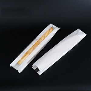 White with Front Window Long Baguette Window Bags 10 cm x 60 cm + 5 cm (3.75 inches x 23.5 inches + 1.75 inches) (800 Bags/Lot)