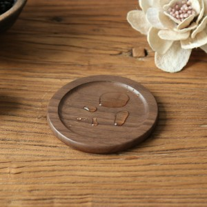 Circular Walnut Wood Table Protector Coasters from Beverages in Brown - 100/Lot (9 cm/3.5 inches)