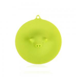 Silica Gel Pig Airtight Seal Mug Cover in Green - 60/Lot (13 cm/5 inches)