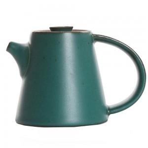 Green Stoneware Simple Brew Loose Leaf Tea Maker in 9oz/260ml - 15/Lot (12 x 9 cm/4.5 x 3.5 inches)